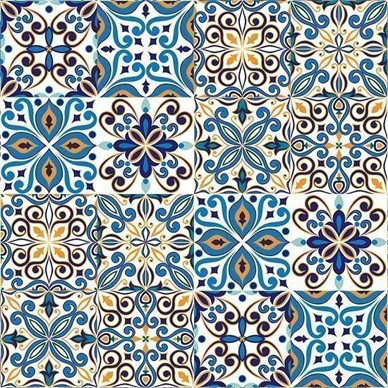 Magnolia 3D Panels. Panel decorativo Java Hidráulico Blue